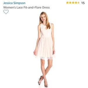 Jessica Simpson pink lace dress